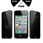 iPhone 4 4S Premium Tempered Glass Screen Protector (Privacy)
