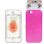 iPhone SE/5/5S LED Light Up Selfie Case With Charger(Power Bank) Pink