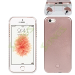 iPhone SE/5/5S LED Light Up Selfie Case With Charger(Power Bank) Rose Gold