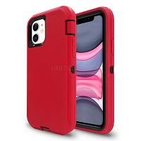iPhone 11 New Heavy Duty Defender Case Red/Black