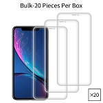 iPhone 11/XR Premium Tempered Glass Screen Protector Bulk (20 Pieces Per Box No Package)