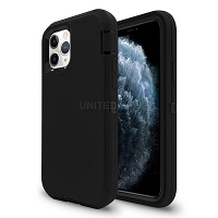 iPhone 11 Pro Max New Heavy Duty Defender Case Black/Black