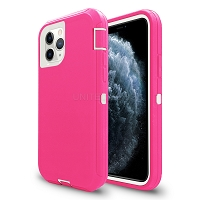 iPhone 11 Pro Max New Heavy Duty Defender Case Pink/White