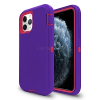 iPhone 11 Pro Max New Heavy Duty Defender Case Purple/Pink