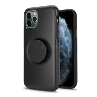 iPhone 11 Pro Max New PXO Pop Holder Kickstand Case Black