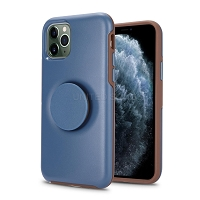iPhone 11 Pro Max New PXO Pop Holder Kickstand Case Dark Blue