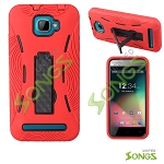 BLU Dash 5.0 D410a Heavy Duty Case With Kickstand Red/Black