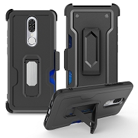 Coolpad Legacy brisa New Heavy Duty Kickstand With Card Holder & Clip Black