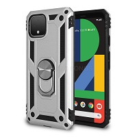 Google Pixel 4 New Hybrid Case With Ring Silver