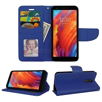 LG Tribute Royal/Aristo 4 Plus/K30 2019/Escape Plus/Arena 2 Wallet Case Blue