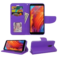 LG Tribute Royal/Aristo 4 Plus/K30 2019/Escape Plus/Arena 2 Wallet Case Purple