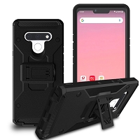 LG Stylo 6 New SCC Heavy Duty Kickstand Case With Clip Black
