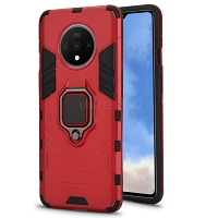 OnePlus 7T New Hybrid Case With Ring Red