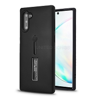 Samsung Galaxy Note 10 New Hybrid Finger Grip Case With Kickstand Black
