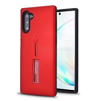Samsung Galaxy Note 10 New Hybrid Finger Grip Case With Kickstand Red