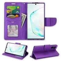 Samsung Galaxy Note 10 Wallet Case Purple