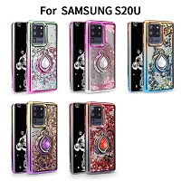 Samsung Galaxy S20 Ultra New LQRG Liquid Glitter Dual Color Case