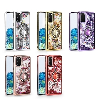 Samsung Galaxy S20 New Liquid Glitter Case With Ring