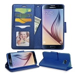 Sasmung Galaxy S6 Edge Wallte Case Blue