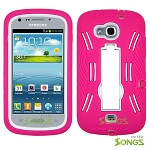 Samsung Galaxy Axiom 2 R830 Heavy Duty Case with Screen Protector High Pink/White