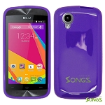 BLU Dash Music JR D390 Dash C Music D380 TPU(Gel) Case Purple