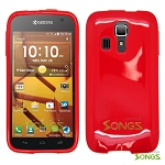 Kyocera Hydro ICON C6730(Boost Mobile) Hydro LIFE C6530(T-Mobile) TPU(Gel) Case Red