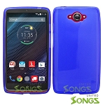 Motorola Turbo/XT1254  TPU(Gel) Case Blue