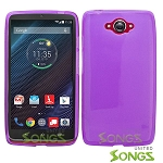 Motorola Turbo/XT1254  TPU(Gel) Case Purple