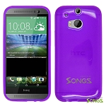 HTC One M8 TPU(Gel) Case Purple
