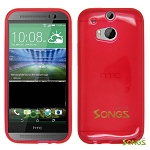 HTC One M8 TPU(Gel) Case Red