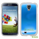 Samsung Galaxy S4 IV i9500 I337Z L720 i545 M919N i337 M919 R970 R970C. Metal Back Case Light Blue/White