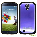 Samsung Galaxy S4 IV i9500 Metal Back Case Purple/Black
