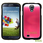 Samsung Galaxy S4 IV i9500 Metal Back Case Red/Black