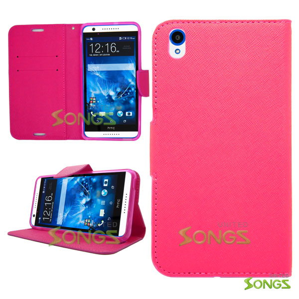HTC Desire 816 710c Wallet Case Pink