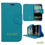 HTC ONE M8 Wallet Case Case Blue