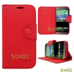 HTC ONE M8 Wallet Case Case Red