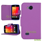 LG Joy H220 Wallet Case Purple