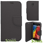 Motorola G(2nd-Gen) Wallet Case Black