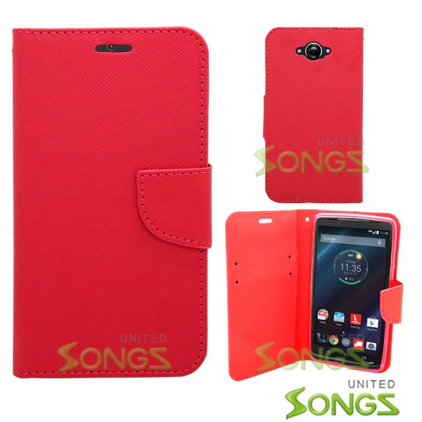 Motorola Turbo/XT1254 Wallet Case Red