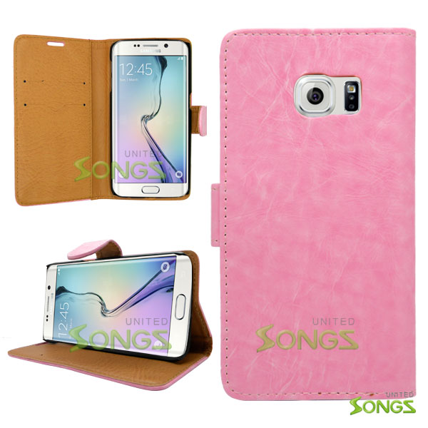 Sasmung Galaxy S6 Edge Wallte Case Pink