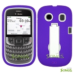 ZTE Aspect F555 Heavy Duty Case with Kickstand Purple/White