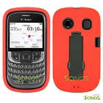 ZTE Aspect F555 Heavy Duty Case with Kickstand Red/Black