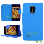 ZTE Boost Max N9510 Wallet Case Blue