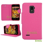 ZTE Warp 4G N9510 Wallet Case High Pink
