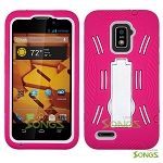 ZTE Warp 4G N9510 Heavy Duty Case with Kickstand High Pink/White