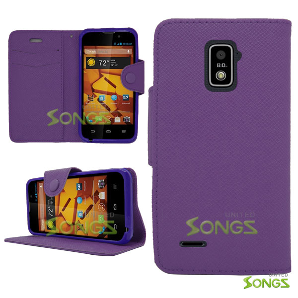 ZTE Boost Max N9510 Wallet Case Purple