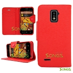 ZTE Boost Max N9510 Wallet Case Red