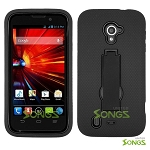ZTE Source N9511 Majesty Z796C Heavy Duty Case with Kickstand Black/Black