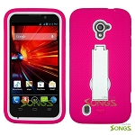 ZTE Source N9511 Majesty Z796C Heavy Duty Case with Kickstand High Pink/White