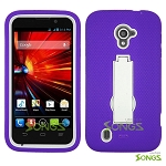 ZTE Source N9511 Majesty Z796C Heavy Duty Case with Kickstand High Purple/White